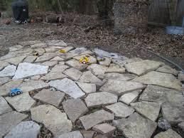 Pea Gravel Front Yard - the bark tree flagstone project