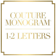 monogram letter 1 or 2 letter couture monogram emilymccarthy
