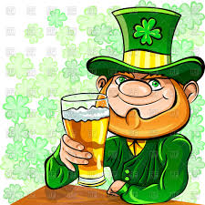 st patrick u0027s day greetings happy leprechaun with glass of beer