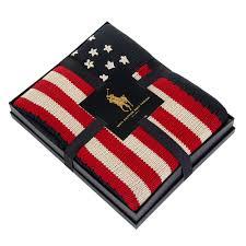 Ralph Lauren Blankets Flag Knit Navy Throw 137 183cm Jpg