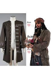 halloween jack sparrow costume pirates of the caribbean jack sparrow jacket coat costume