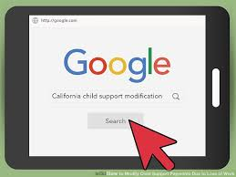 how to modify child support payments due to loss of work