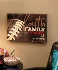 sport en chambre x 12 x 16 faith family football sport wall decor