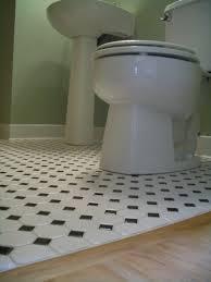 black and white octagon bathroom floor tile interesting interior