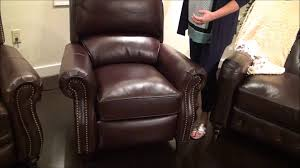 Burgundy Leather Chair And Ottoman Churchill Ii Push Back Recliner In Burgundy Bordeaux Leather By
