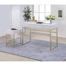 gold and white writing desk park avenue white gold writing desk