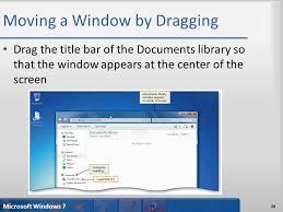 Windows 7 Top Bar Microsoft Windows 7 Part 1 Fundamentals Of Using Windows Ppt Download