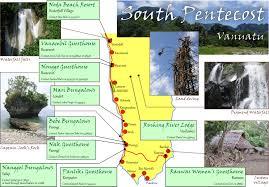 Vanuatu Map Pentecost Island Vanuatu