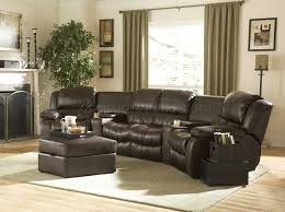 home theater loveseat brown bonded leather home theater recliner sectional sofa