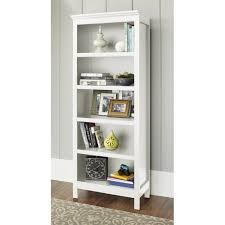 astonishing threshold carson 5 shelf bookcase white 50 about