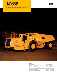 ad55b underground articulated truck caterpillar equipment pdf