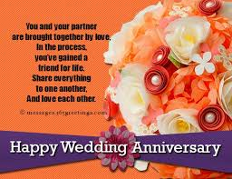 Wedding Message For A Friend Wedding Anniversary Wishes For Partner With Flowers Nicewishes