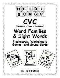 96 best cvc word families images on pinterest cvc word families