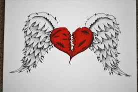 Hearts With Wings - easy drawings of broken hearts with wings note9 info