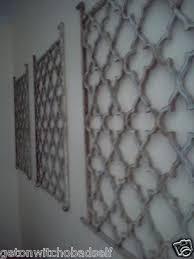 Quatrefoil Wall Sconce Primitive Garden Gate Panel Wrought Iron Metal Wall Quatrefoil