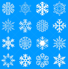 collection of beautiful vector winter snowflakes royalty free