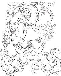 disney coloring pages free download walt disney coloring pages flounder sebastian princess ariel