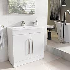 Bow Front Vanity 800 Vanity Unit With Basin For Bathroom Ensuite Cloakroom Luxury