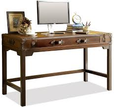 Shenandoah Valley Furniture Desk by Riverside Furniture Latitudes Suitcase Writing Desk With Drop With