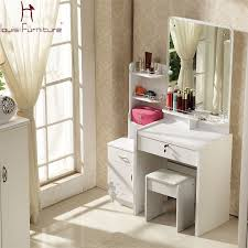 small dressing table with mirror and stool online shop concise style dresser white ivory purple pink colored