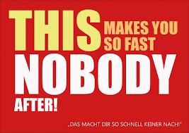 lustige postkarten spr che this makes you so fast nobody after denglisch echte
