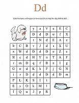 letter d maze alphabet printables pinterest mazes for kids