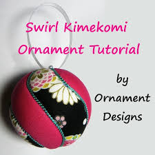 swirl kimekomi ornament tutorial