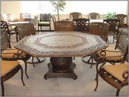 Travertine Patio Table Furniture Ideas Octagon Patio Table With Travertine Tiles Ideas
