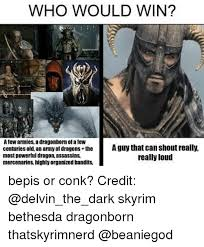 Dragonborn Meme - who would win afew armies a dragonborn or afew centuries old an