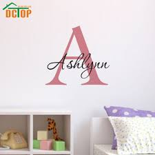names for home decor shops removable vinyl wall art decals customized name big letter