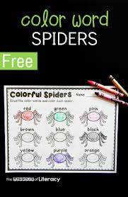 color word spiders the letters of literacy