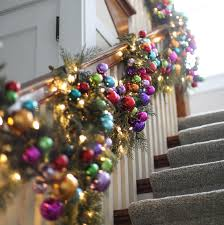 Banister Decorations For Christmas 3 Colorful Ideas For A Rainbow Christmas Martha Stewart