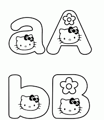 kitty alphabet coloring pages printable alphabet coloring