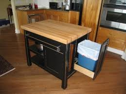 Kitchen Island With Trash Bin Wooden Mobile Kitchen Design With Trash Can Http Lanewstalk