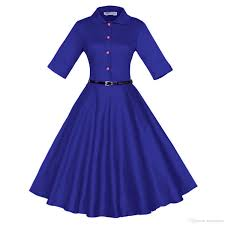 womens vintage 1940s 50s shirtwaist flared dress swing skaters