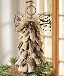 driftwood angel tree topper christmas winter crafts pinterest