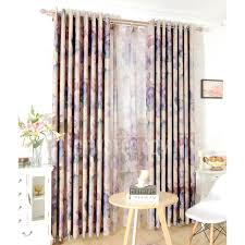 lilac bedroom curtains gray and lilac floral pattern durable polyester thermal bedroom