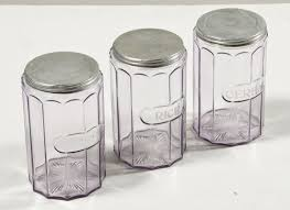 amethyst glass canisters omero home