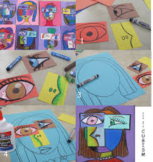 2nd grade cubism oil pastels like the ways the features