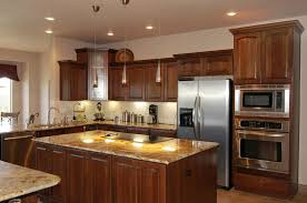 kitchen decorating warm wood cabinets gold kitchen paint color