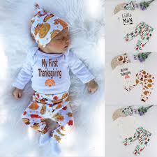 2017 baby boy clothes set my thanksgiving romper