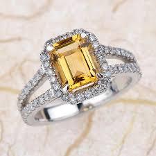 gold topaz rings images Yellow topaz engagement ring 14kt white gold diamond engagement jpg