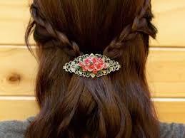 barrette hair barrette hair clip hair accessories handmade discovered