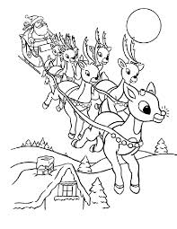 the red nosed reindeer coloring pages free printable for kids