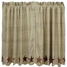 Prairie Curtains Barrington Scalloped Lined Prairie Curtains U2013 Primitive Star Quilt