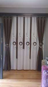 cortina de tabla ancha con caidas sobre barra cortinas pinterest