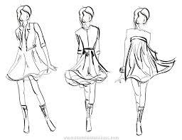 drawn fashion sketch design pencil and in color drawn fashion