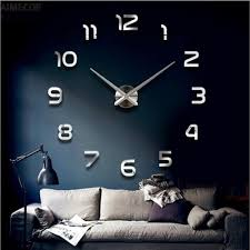 online buy wholesale clock home interior from china clock home aimecorgifts living room bedroom home docerate wall clock mirrored acrylic self adhesive interior wall creative decoration