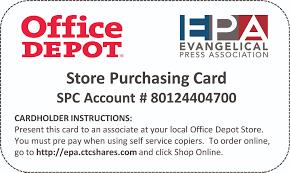 Office Depot Member Benefit U2013 Office Depot Discount Card Evangelical Press