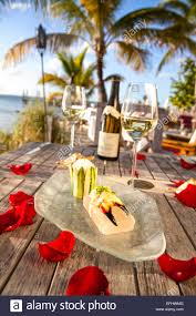 The Dining Room At Little Palm Island by Florida Lobster Salad With Asparagus And Spicy Aioli Lemon Grass